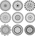 Big set of black and white mandala vector image