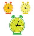 fruit clock color vector image