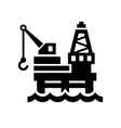 Oil Platform Icon on White Background vector image