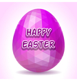 Abstract polygonal Easter egg vector image