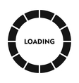 Circle loading bar icon simple style vector image