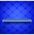 Emty Blue Shelf vector image
