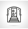 Housing entrance simple line icon vector image