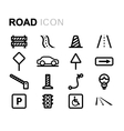 line road icons set vector image