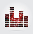 red black tartan isolated icon - equalizer symbol vector image