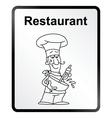 Restaurant Information Sign vector image