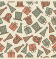 retro birthday party seamless pattern vector image