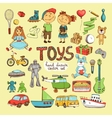 set of cartoon toys vector image