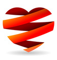 Sliced Red Heart vector image