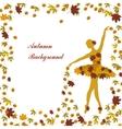 Tender ballerina is sprinkling maple leaves vector image