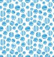 seamless of blue circle pattern vector image
