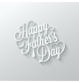 Fathers day cut paper lettering background vector image