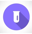 Chemical flask icon vector image vector image