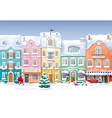 Winter cityscape 4 vector image vector image
