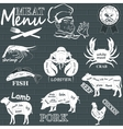 Meat menu vector image