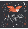 Merry Christmas Lettering Christmas vector image