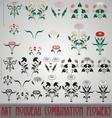 Art Nouveau Combination Flowers vector image