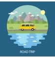 Road trip flat design vector image