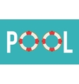 float icon Swimming and pool party design vector image
