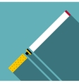 Cigarette icon flat style vector image