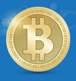 digital bitcoin golden coin with bitcoin symbol in vector image