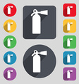 extinguisher icon sign A set of 12 colored buttons vector image