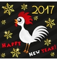 Greeting card happy new year the red rooster vector image