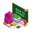 Isometric concept Back to school background vector image