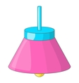 Pink ceiling lamp icon cartoon style vector image