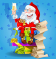 Santa Claus with champagne vector image