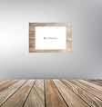 Wood frame wood floor vector image