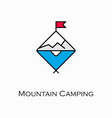 mountain camping icon vector image