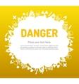 Danger sign set in cloud banner vector image