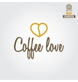 Vintage logo for coffee shop cafe and restaurant vector image vector image