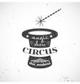 Circus vintage badge vector image