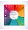 infographic square template with 7 options vector image