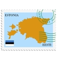 mail to-from Estonia vector image vector image