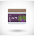 acai berry beauty product flat icon vector image