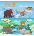 Beasts Ice Age Horizontal Banners vector image