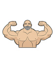 Bodybuilder on a white background Athlete with big vector image