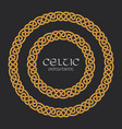 celtic knot braided frame border circle ornament vector image