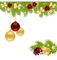 christmas corner 1611 02 vector image
