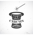 Circus vintage badge vector image