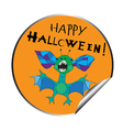 halloween sticker vector image