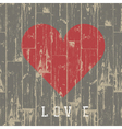 Heart on wood vector image