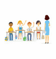 lesson at school - cartoon people characters vector image