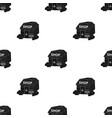 supermarket icon in black style isolated on white vector image