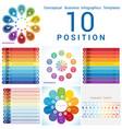 templates infographics business conceptual cyclic vector image