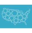 USA map made of blue bubbles vector image