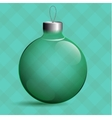 Transparent Christmas ball Glass tree Toy Green vector image vector image
